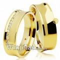 Alianças de casamento e noivado WM2625 Modelo: Aliança de noivado e casamento Material: Ouro Amarelo 18k 750 Peso: 13 gramas o par Pedra(s): 20 diamantes de 1 ponto 1 rubi Largura: 6 milímetros Formato: Anatômico Baixo Côncava Acabamento: Liso