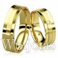 Alianças de casamento WM2929 Modelo: Aliança de noivado e casamento - côncava Material: Ouro Amarelo 18k 750 Peso: 10.5 gramas o par Pedra(s): 1 diamante de 1 ponto 1 Rubi Largura: 5.5 milímetros Formato: Anatômico Baixo Acabamento: Liso e Fosco
