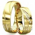 Alianças de casamento WM2920 Modelo: Aliança de noivado e casamento Material: Ouro Amarelo 18k 750 Peso: 15 gramas o par Pedra(s): 8 diamantes de 1 ponto 1 rubi Largura: 7 milímetros Formato: Anatômico Baixo Acabamento: Liso e Fosco