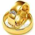 Alianças de casamento São Paulo WM2753 Modelo: Alianças de noivado e casamento - São Paulo Material: Ouro Amarelo 18k 750 Peso: 12 gramas Pedra(s): 3 diamantes: 1 de 2 pontos e 2 de 1 ponto cada 1 rubi natural Largura: 6 milímetros Formato: Anatômico Baixo Acabamento: Liso