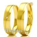 Aliancas de noivado e casamento 18k 750 WM2363 Modelo: Aliança de noivado e casamento Material: Ouro Amarelo 18k 750 Peso: 7 gramas o par Pedra(s): 1 diamante de 1,5 pontos Largura: 4.5 milímetros Formato: Reta Anatômico Baixo Acabamento: Liso e Fosco