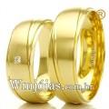 Alianças para casamento e noivado 18k WM2298 Modelo: Aliança de noivado e casamento Material: Ouro Amarelo 18k 750 Peso: 11 gramas o par Pedra(s): 1 diamante de 2 pontos Largura: 6 milímetros Formato: Anatômico Baixo Acabamento: Liso e Fosco