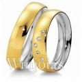 Aliancas de noivado casamento WM2951 Modelo: Aliança de noivado e casamento Material: Ouro Amarelo 18k 750 Prata 950 Peso: 9 gramas o par Pedra(s): Semi Preciosas Largura: 5 milímetros Formato: Anatômico Baixo Acabamento: Liso