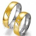 Aliancas de noivado e casamento WM2952 Modelo: Alianças de noivado e casamento Material: Ouro Amarelo 18k 750 Prata 950 Peso: 9 gramas o par Pedra(s): Semi preciosas Largura: 4.5 milímetros Formato: Anatômico Baixo Acabamento: Liso e detalhe fosco