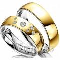 Aliancas de noivado e casamento 18k WM2954 Modelo: Aliança de noivado e casamento Material: Ouro Amarelo 18k 750 Prata 950 Peso: 12 gramas o par Pedra(s): Semi preciosas Largura: 6 milímetros Formato: Anatômico Baixo Acabamento: Liso