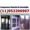 COMPRO MATERIAL USADO DE REFORMA NA MOOCA AGUIA DEMOLIDORA (11)9522-06907 Compro materiais usados de construção, reforma e demolição em geral.  Portas, grades, vitros, louças, janelas, portões e muito mais…  Removemos seus materiais ainda instalados.  Fazemos demolição em geral.  Atendemos em toda grande São Paulo.  Solicite um orçamento.  Telefone: (11)9522-06907 (11)999273306