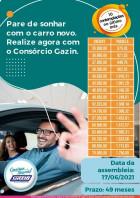 Você de carro novo com o consórcio Gazin .